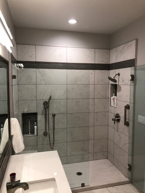 Pocket Area Custom Hall Bath Remodel Bradley Builders Simple Bathroom Remodel Sacramento